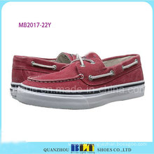 Red Leisure Boat Shoe for Men